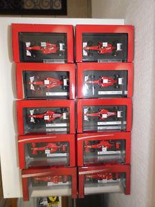 【送料無料】模型車 モデルカー スポーツカースクーデリアフェラーリライコネンマッサアロンソオーシャンビュー10 x f1 scuderia ferrari 2008 2012 raikkonen massa alonso 143 mattel ov