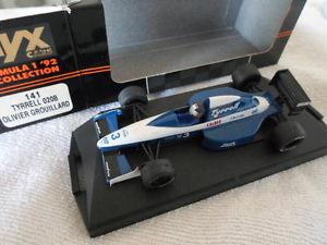 【送料無料】模型車 モデルカー スポーツカーオニキスティレルケンティレルオリビエ143 onyx f1 tyrrell 020b olivier grouillard 1992 *signed by ken tyrrell* rare