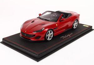 【送料無料】模型車 モデルカー スポーツカーモデルフェラーリポルトフィーノポルトフィーノbbr models p18155aferrari portofino 2017 red portofino