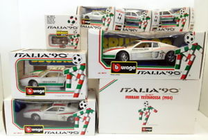 【送料無料】模型車 モデルカー スポーツカースケールフェラーリburago 1182443 scale diecastitaly 90 ferrari testarossa etc set