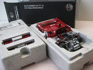 【送料無料】模型車 モデルカー スポーツカーアルファロメオ#モンツァautoart alfa romeo 33tt12 2 monza 1975 118