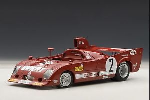 【送料無料】模型車 モデルカー スポーツカーアルファロメオ#キロモンツァオートアートalfa romeo 33 tt12 2 winner 1000 km monza 1975 merzario 118 auto art 87504