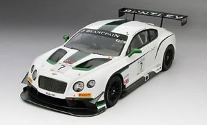【送料無料】模型車 モデルカー スポーツカーグアテマラ#ブランパンシルバーストーンスケールbentley gt3 7 blancpain gt silverstone winner 2014 true scale 118 tsm151807r m