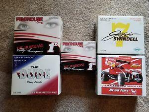 【送料無料】模型車 モデルカー スポーツカーサミーブラッドランディダニースプリントカーsammy swindell, brad fur, randy hanagan, danny lasoski sprint car 124 set