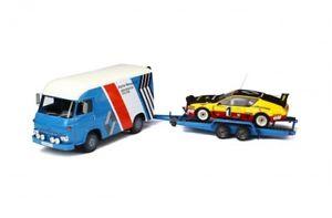 【送料無料】模型車 モデルカー スポーツカーオットーラリールノーアルパイントレーラーセット118 otto rally set renault alpine a310 saviem trailer 118 ovp ot281