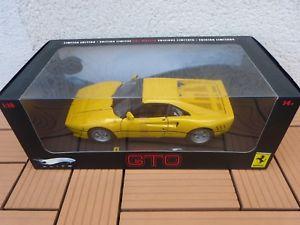 【送料無料】模型車 モデルカー スポーツカーフェラーリイエローエリートferrari 288 gto yellow 100 118 elite extremely rare