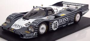 【送料無料】模型車 モデルカー スポーツカースケールポルシェ#ルマンヒューゴボス112 true scale porsche 956 18, 24h le mans 1983 hugo boss