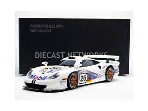 【送料無料】模型車 モデルカー スポーツカーポルシェモービルルマンautoart 118 porsche 911 gt1 mobil le mans 1997 89773
