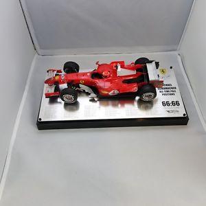【送料無料】模型車 モデルカー スポーツカーホットホイールミハエルシューマッハーフェラーリ118, limited edition, hot wheels, michael schumacher 6666, ferrari, 2006