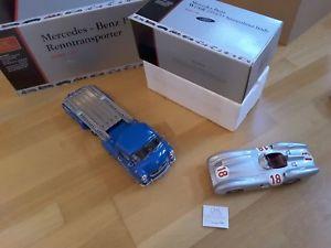 【送料無料】模型車 モデルカー スポーツカーメルセデスレーシングトランスポーターシルバーアローcmc 118 mercedes racing transporter m silver arrow w196r 18 limited cabi