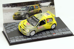 【送料無料】模型車 モデルカー スポーツカークリオ#モンテカルロラリー listingrenault clio s1600 39 rallye monte carlo 2004 143 altaya