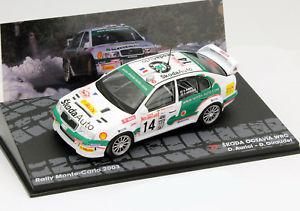 【送料無料】模型車 モデルカー スポーツカーシュコダ#モンテカルロラリーskoda octavia wrc 14 rallye monte carlo 2003 143 altaya