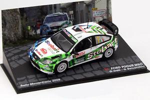【送料無料】模型車 モデルカー スポーツカーフォードフォーカスモンテカルロラリーガリford focus wrc 7 rallye monte carlo 2008 galli, bernacchini 143 altaya