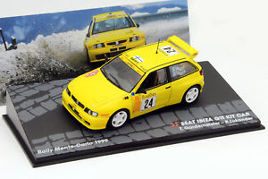 【送料無料】模型車 モデルカー スポーツカーイビサセット#モンテカルロラリーseat ibiza gti set car 24 rallye monte carlo 1999 143 altaya