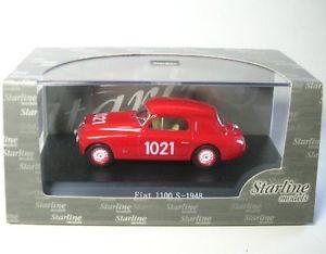 【送料無料】模型車 モデルカー スポーツカーフィアットミッレミリアfiat 1100s 1021 mille miglia 1949
