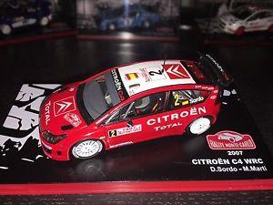 【送料無料】模型車 モデルカー スポーツカーシトロエンラリーモンテカルロダニcitroen c4 wrc rally monte carlo 2007 dani sordo