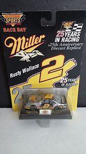 【送料無料】模型車 モデルカー スポーツカーウォレスミラー#ナスカーレースrusty wallace miller 2 25th anniversary diecast nascar race day sealed