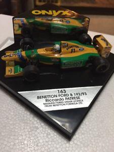 【送料無料】模型車 モデルカー スポーツカーオニキスフォーミュラモデルスケールベネトンフォードリカルドパトレーゼonyx formula 1 models 143 scale 163 benetton ford b 19293 riccardo patrese