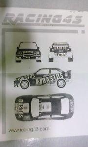 【送料無料】模型車 モデルカー スポーツカーレーシングステッカーフォードエスコート#ブランドracing 43 decals ford escort 034;bastos034; brand