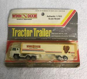 【送料無料】模型車 モデルカー スポーツカーウィンデキシースケールモデルトタートレーラー#winn dixie authentic 1100 scale model tractor trailer mfg 1381
