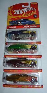 【送料無料】模型車 モデルカー スポーツカーホットシリーズロット2004 hot wheels classics series 1 lot of four purple passion