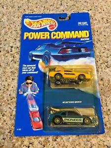 【送料無料】模型車 モデルカー スポーツカーマテルホットホイールコマンドレーサーカマロサンダーバードマレーシアmattel hot wheels power command racers camaro amp; thunderbird 4182 1989 malaysia
