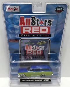 【送料無料】模型車 モデルカー スポーツカーシボレービスケインワゴンtas033818 2008 maisto all stars red 1962 chevrolet biscayne wagon