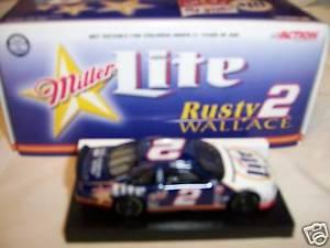 【送料無料】模型車 モデルカー スポーツカーウォーレス#フォードトーラスミラーライトnib rusty wallace 2 1999 ford taurus miller lite 164