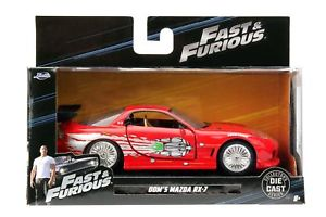 model 132 red スポーツカーモデルマツダレッドスケールオリジナルモデルfast jada original mazda rx7 model モデルカー dom scale furious 【送料無料】模型車