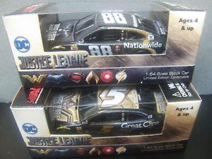 【送料無料】模型車 モデルカー スポーツカーデイルアーンハートジュニアセットケーシーリーグ2 car set dale earnhardt jr amp; kasey kahne 2017 justice league 164 nascar 2018