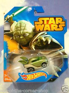 【送料無料】模型車 モデルカー スポーツカーマテルホットホイールスターウォーズヨーダジェダイマスターグリーンミントexcellent mattel hot wheels star wars yoda jedi master car green mint amp; carded