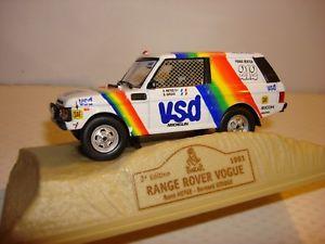 【送料無料】模型車 モデルカー スポーツカーレンジローバーヴォーグダカールnorev car 143 22 range rover vogue no 212 dakar 1981