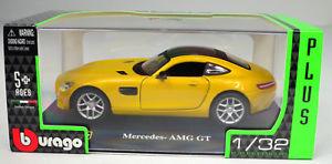 【送料無料】模型車 モデルカー スポーツカーメルセデスイエロースケールmercedes amg gt yellow 1 3 scale 2 bburago