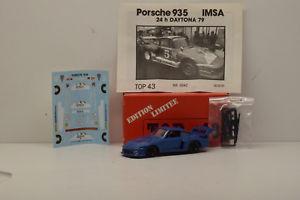 【送料無料】模型車 モデルカー スポーツカーキットポルシェデイトナ#トップボックスオンkit porsche 935 imsa daytona 1979 5 top 43 143 in box