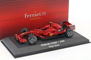 【送料無料】模型車 モデルカー スポーツカーフェリペマッサフェラーリ#ショーケースアトラスfelipe massa ferrari f2008 2 2 f1 2008 with showcase 143 atlas
