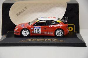 【送料無料】模型車 モデルカー スポーツカーシトロエンクサラ#ドネットワークcitroen xsara wrc 15 tour de crcega 2001 ixo 143 nuevo en caja ref ram040