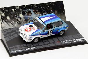 【送料無料】模型車 モデルカー スポーツカーフィアットアバルト#ラリーモンテカルロワトソンfiat ritmo 75 abarth 15 rally montecarlo 1980 bettega, watson 143 altaya