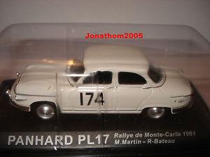 【送料無料】模型車 モデルカー スポーツカーラリーモンテカルロpanhard pl17 rally monte carlo 1961 au 143