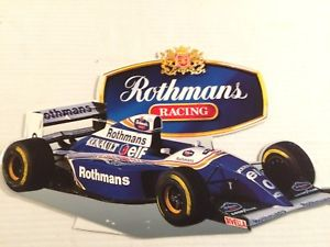 【送料無料】模型車 モデルカー スポーツカーロスマンズレーシングサインルノーrothmans racing advertisement sign, renault