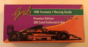 【送料無料】模型車 モデルカー スポーツカーグリッドフォーミュラレーシングカードセットカードジルヴィルヌーヴサーキットcollectible grid 1992 formula 1 racing 200 cards set, 11 card gilles villeneuve