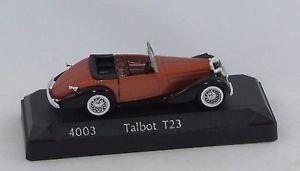 【送料無料】模型車 モデルカー スポーツカーオレンジソリッドtalbot t23 orange 4003 143 solid