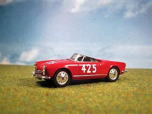 【送料無料】模型車 モデルカー スポーツカーアルファロメオスパイダーベローチェミッレミリア##** alfa romeo giulietta spider veloce 1956 mille miglia 143 6 **