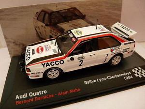 【送料無料】模型車 モデルカー スポーツカーネットワークラリーフランスアウディクアトロrfr2m car 143 ixo altaya rally france audi quattro 1984 darniche