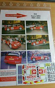 【送料無料】模型車 モデルカー スポーツカーデカールシトロエンクサラトーマスモンテカルロラリーdecals 132 ref 622 citroen xsara wrc thomas radstrom rallye monte carlo 2002