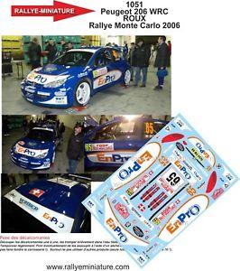 【送料無料】模型車 モデルカー スポーツカーデカールプジョーレッドラリーモンテカルロラリーdecals 132 ref 1051 peugeot 206 wrc red rally monte carlo 2006 rally