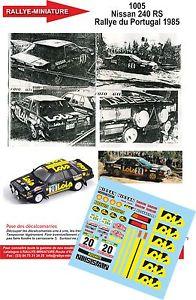 【送料無料】模型車 モデルカー スポーツカーデカールポルトガルラリーラリーdecals 132 ref 1005 nissan 240 mendes rally of portugal 1985 rally wrc