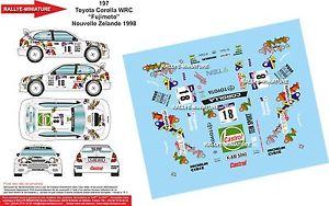 【送料無料】模型車 モデルカー スポーツカーデカールトヨタカローラニュージーランドラリーdecals 132 ref 197 toyota corolla wrc fujimoto rally zealand 1998