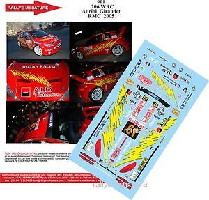 【送料無料】模型車 モデルカー スポーツカーデカールプジョーオリオールモンテカルロラリーラリーdecals 132 ref 901 peugeot 206 wrc didier auriol rallye monte carlo 2005 rally