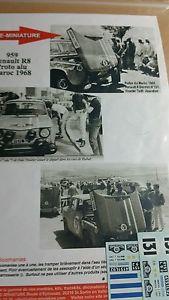 【送料無料】模型車 モデルカー スポーツカーデカールルノーデュラリーdecals 132 ref 959 renault 8 gordini vinatier rallye du maroc 1968 rally wrc