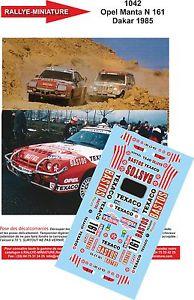 【送料無料】模型車 モデルカー スポーツカーデカールオペルマンタウェーバーダカールラリーパリdecals 132 ref 1042 opel manta 400 rallye weber paris dakar 1985 rally bastos